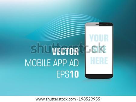 vector ad design for mobile app