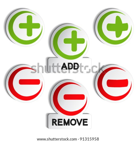 Vector add remove item - plus, minus