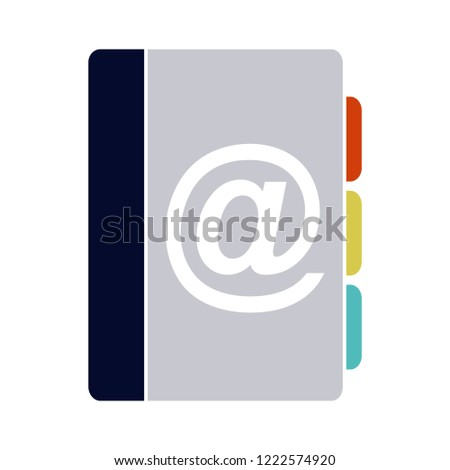 Vector address book icon - directory contacts illustration. telephone address book isolated illustration