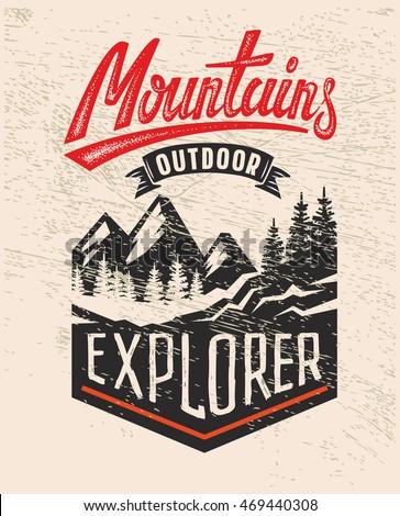 vector adventure vintage logo