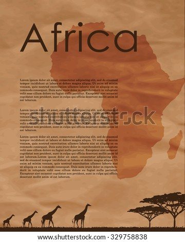 vector africa map  abstract