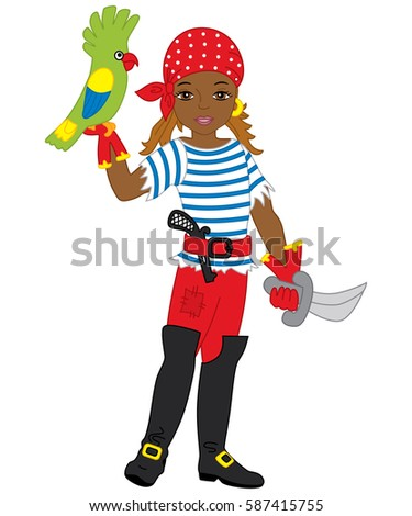 vector african american pirate