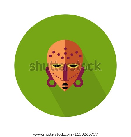 vector african mask illustration isolated. traditional sign symbol, ancient art