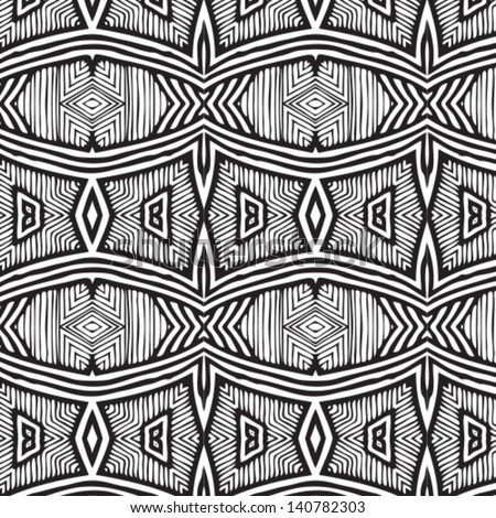 Vector African pattern (seamlessly tiling). Seamless pattern can be used for wallpaper, pattern fills, web page background,surface textures. seamless background
