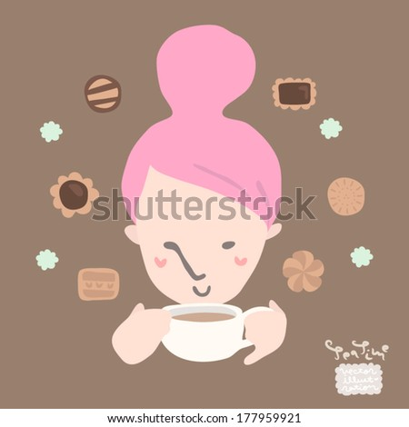 Vector Afternoon Teatime Illustration