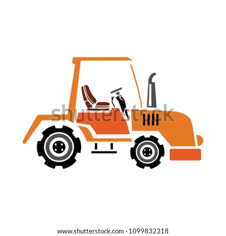 vector agriculture machinery tractor isolated - farm vehicle illustration