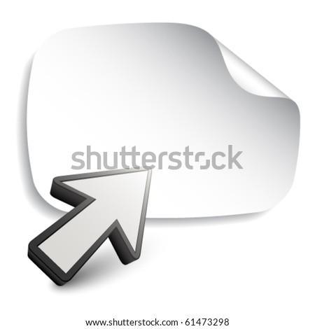 vector aiming arrow with blank sticker