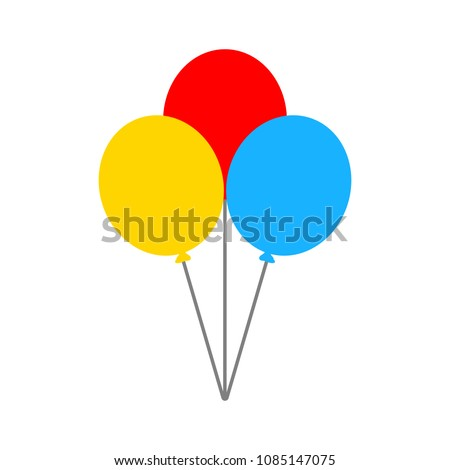 vector air balloons icon - birthday celebration isolated - holiday party decoration illustration