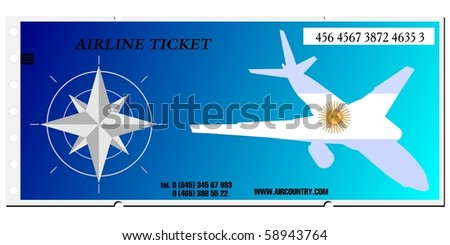 vector airline ticket to Argentina