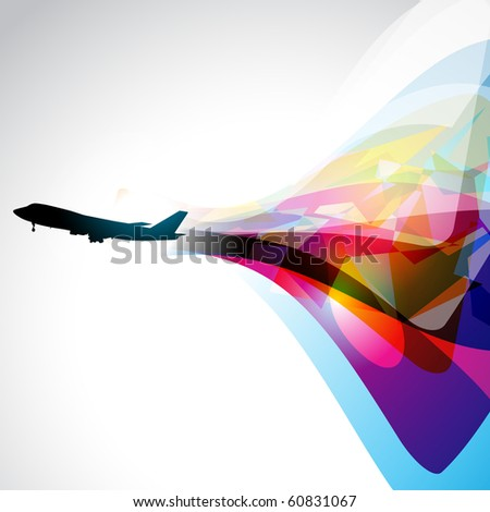 vector airplane artwork. eps10 design - stock vector