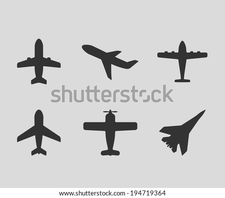 vector airplane icons