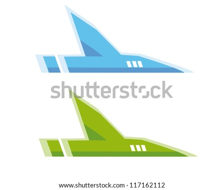 Vector airplane symbol - stock vector