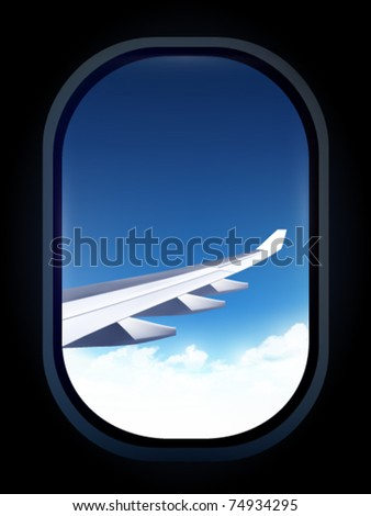 vector airplane window