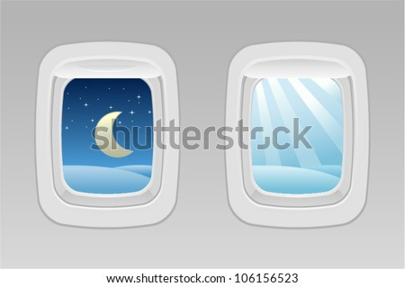 vector airplane windows