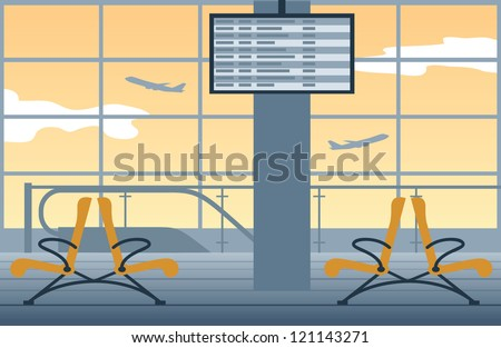 vector airport background