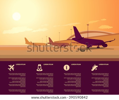 vector airport terminal with infographic elements templates