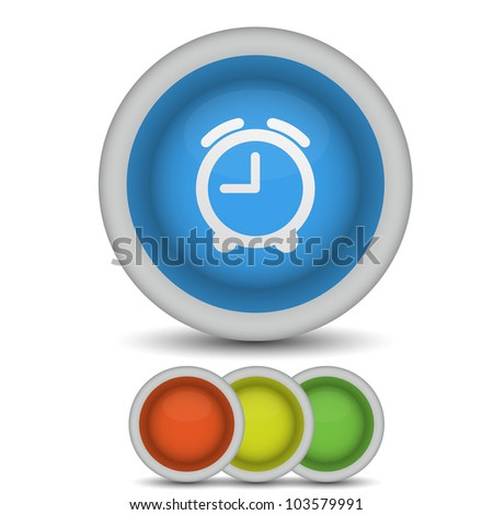 vector alarm clock icon on white. Eps10 - stock vector