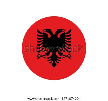 Vector Albania flag, Albania flag illustration, Albania flag picture, Albania flag image