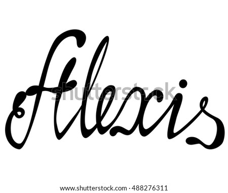 vector alexis name lettering