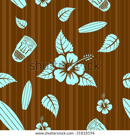 Vector aloha seamless pattern