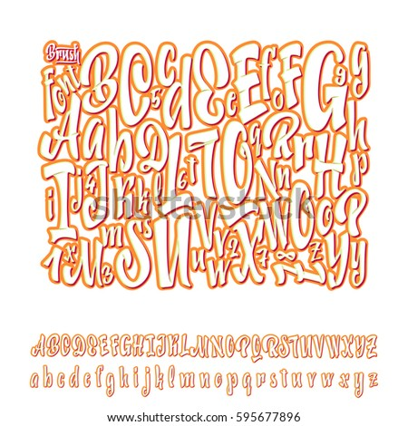 Vector Alphabet. Calligraphic font. Unique Custom Characters. Hand Lettering for Designs - logos, badges, postcards, posters, prints. Modern brush handwriting Typography.