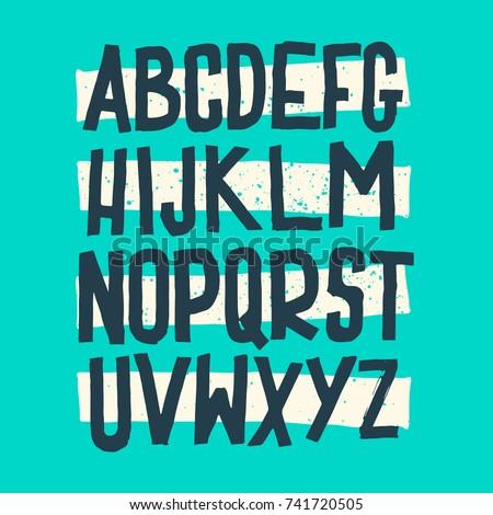 Vector Alphabet. Custom Letters. Lettering and Custom Typography for Designs: Logo, for Poster, Invitation, Handwritten font