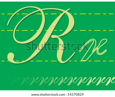 letters of alphabet in cursive. letters of alphabet in
