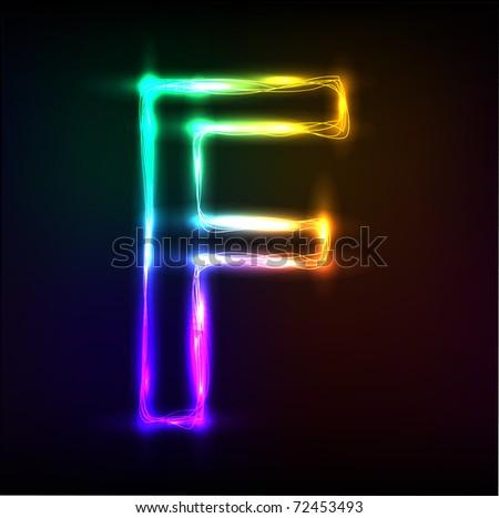 Vector Alphabet Neon Letter F 72453493 Shutterstock