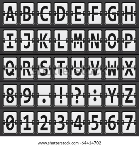 vector alphabet of black and