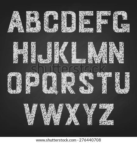 vector alphabet of chalked
