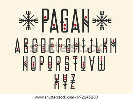 vector alphabet set. capital...