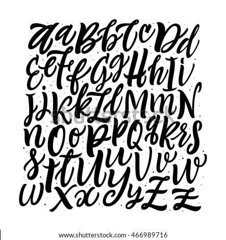 Vector Alphabet Square Background. Brush Letters. Hand Lettering and Custom Typography for  Designs: Wallpaper Patterns, for Posters, Cards, etc. Vector Illustrations.
