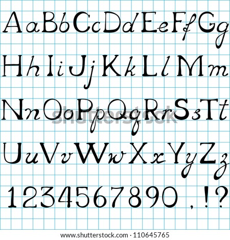 vector Alphabet, uppercase and lowercase letters
