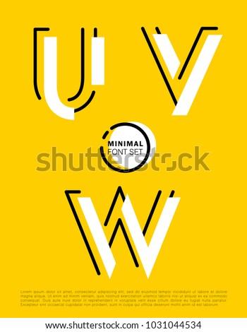 vector alphabet with minimal