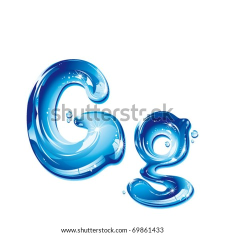 G Letter In Water Vector Images, ...