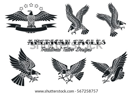 vector american eagles set...
