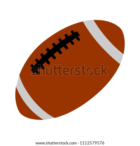 vector American football ball illustration isolated, sport icon
