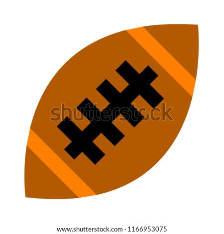vector American football ball illustration isolated, sport icon
