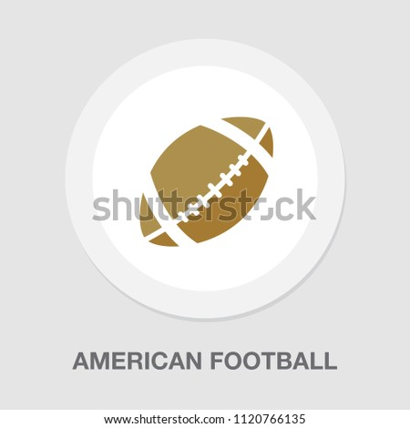 vector american football ball illustration isolated- sports icon