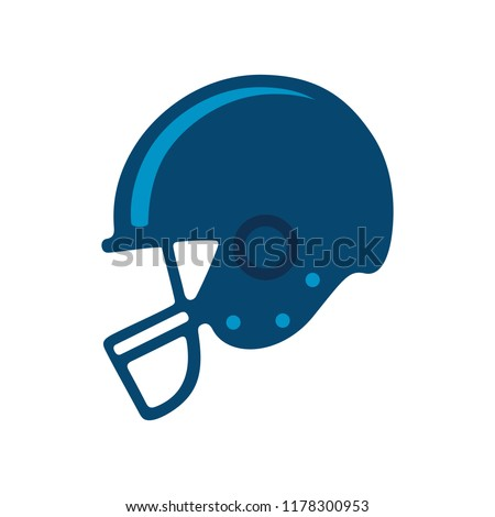 vector American football helmet illustration isolated - sport icon