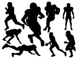 vector american football players silhouette