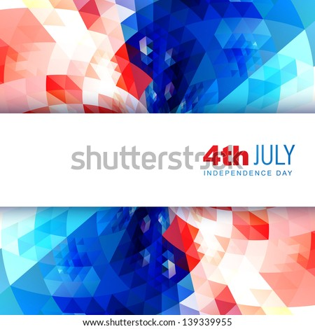 vector american independence day design background