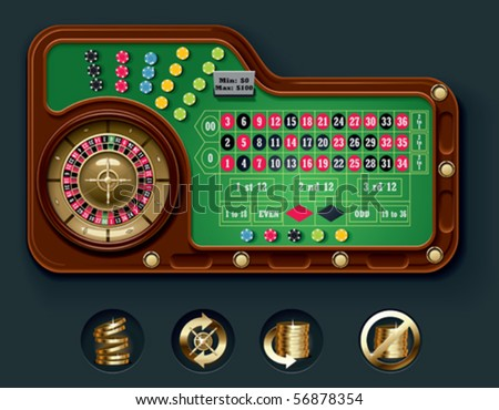 Vector American roulette table layout