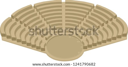 Vector Amphitheater ancient scene
