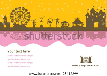 vector amusement park - stock vector
