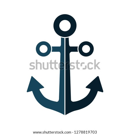 vector Anchor icon-nautical flat icon-vessel sign-boat vector-cargo illustration-shipping isolated