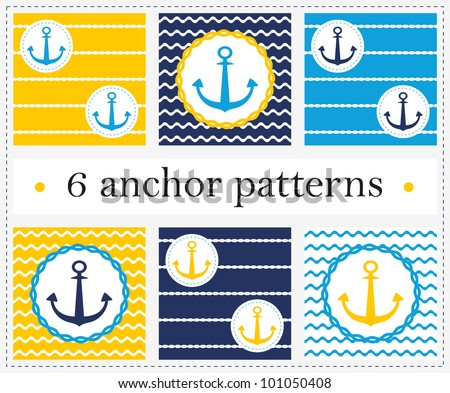 vector anchor seamless pattern