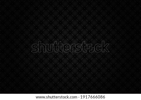 Vector and illustration 3d diamond pattern and buttons Shadow black background.