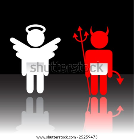 Vector angel and devil