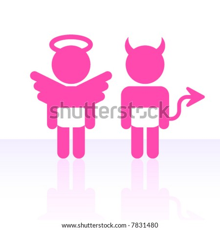 Vector angel and devil.